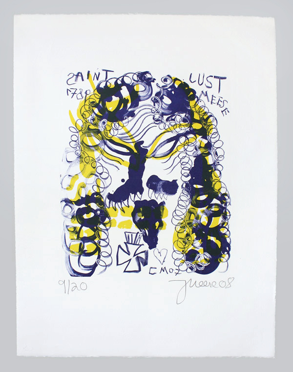 Revolution Jonathan Meese Lithografie A